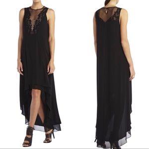 BCBG Maxazria Cassidy High Low Dress w Lace Detail